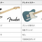 ストラトキャスターとテレキャスターの違い(どっちがいいエレキギターなんだ!!)