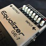 BOSS GE-7ギター用イコライザーのレビュー!