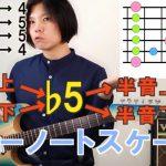 ブルーノートスケール(マイナーペンタ+♭5)を弾こう!